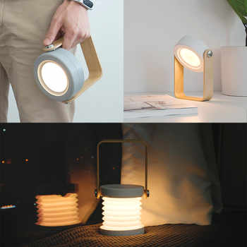 Portable warm white Lanterns level 3 brightness hanging tent usb rechargeable flashlight built-in1200 mAh lithium battery D4 - Category 🛒 Lights & Lighting