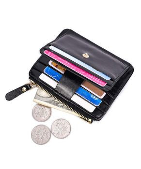 New Fashion card wallet business card holder pu leather coin pocket women card Organizer men purse money bag
