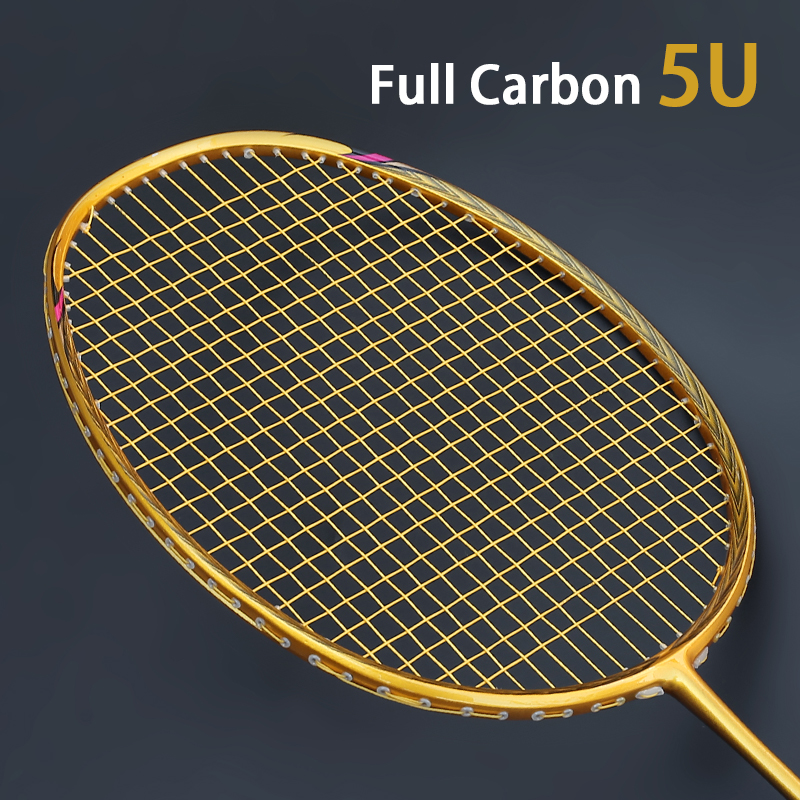 Professional Carbon 4U 5U Badminton Racket Bag With String Offensive Type Rackets Raquette Ultralight Grip Padel Raqueta Strung