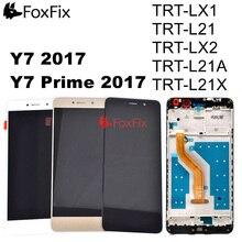 สำหรับ HUAWEI Y7 2017 จอแสดงผล LCD Touch Screen Digitizer Y7 PRIME 2017 LCD กรอบ TRT L21 TRT LX2 TRT L21A TRT L21X TRT LX1