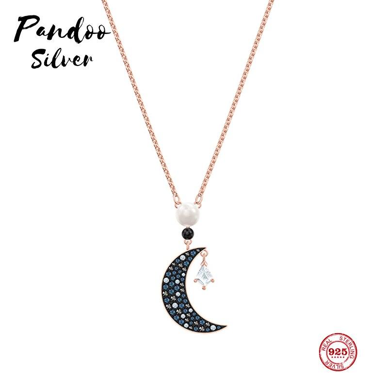 Moda Original 1:1 copia, misterioso Luna estrellas salvaje clavícula cadena collar mujer lujo joyas regalos