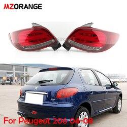 MZORANGE الذيل مصباح لبيجو 206 2004 2005 2006 2007 2008 206CC مصباح ليد خلفي اكسسوارات السيارات