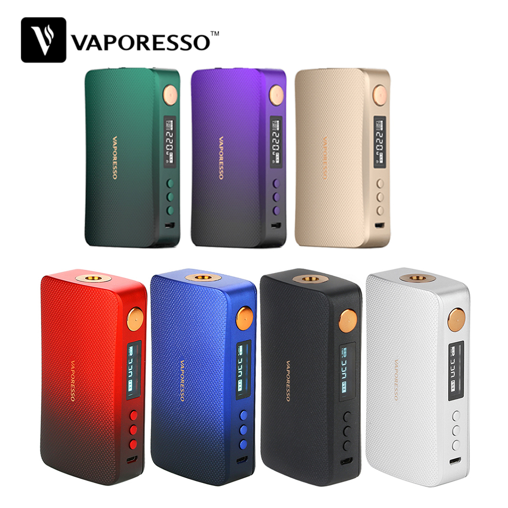 New Color !!! Original 220W Vaporesso GEN Box Mod Vape Fit For 8ml SKRR-S Tank VS LUXE-S Bod Mod E Cigarettes Vape Mod