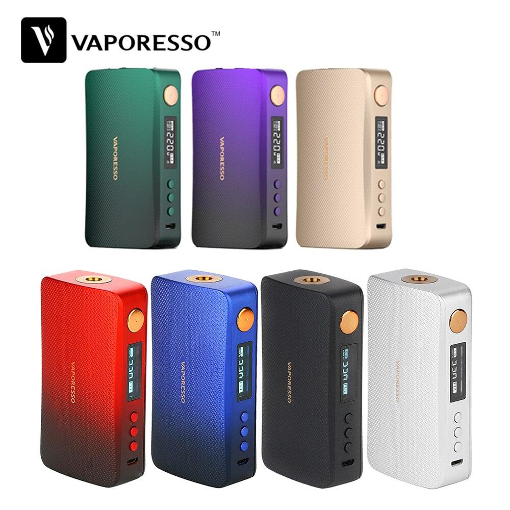 Nouvelle couleur!!! Original 220W vaporéso GEN boîte Mod Vape adapté pour 8ml SKRR-S réservoir VS LUXE-S Bod Mod E Cigarettes Vape Mod