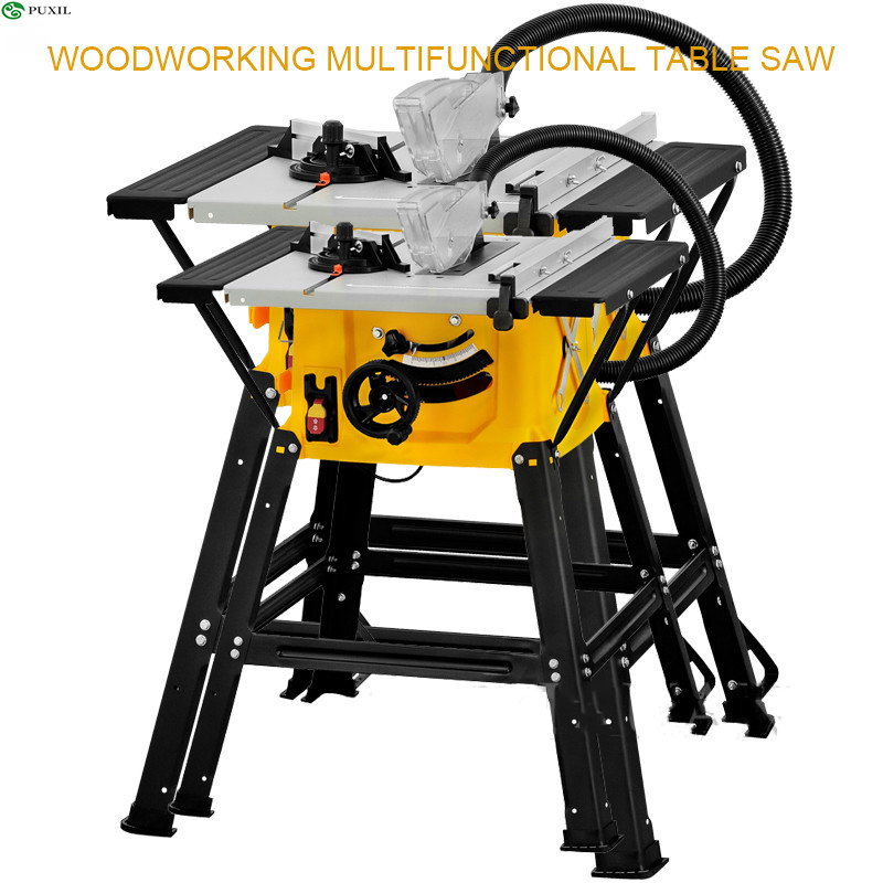 8 Inch Multifunction Dust Free Woodworking Electric Table Saw Cutter Home Decoration Floor Aluminum PVC Cutting Tools