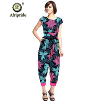 2019 African Pant set for women AFRIPRIDE Jumpsuit dashiki clothing batik wax print pure cotton Ankle Length Pant S1929002