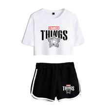 2021 summer cool suit stranger things T-shirts Shorts Girls Sexy Sport suit Tracksuit Shirt Outfit Leisure Two Pieces Women Set