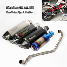 Slip On For Benelli tnt150 Motorcycle System Pipe Front Header Link Muffler Exhaust Tip Tube Scooter Moto Modified