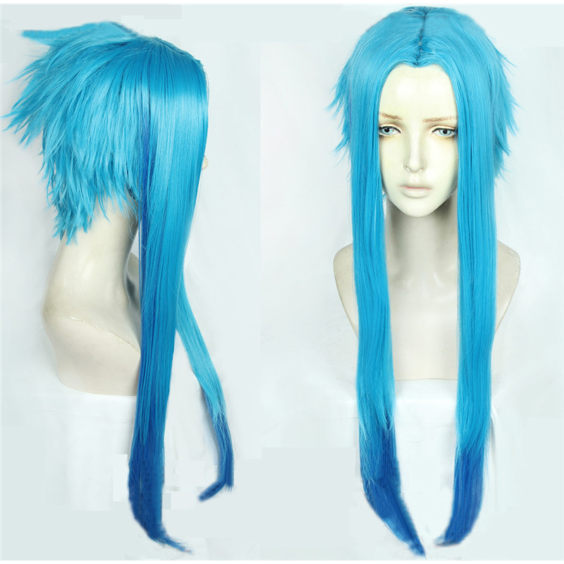 <font><b>Borderlands</b></font> 3 Maya Cosplay Wigs Blue Long High-temperature Fiber Synthetic Hair Wig Pelucas image