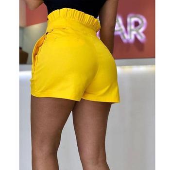 Fashion Shorts Women Plus Size Femme Summer High waist Shorts ladies Sexy Slim Short Pants Elastic Waist Loose Shorts 5