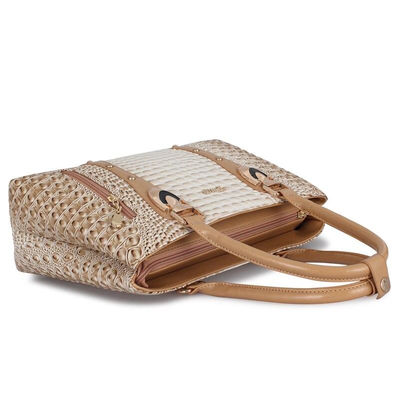 Image 5 - ZMQN Famous Brand Women Handbags Ladies Hand Bags Luxury Handbags Women Bags Designer 2019 Crocodile Leather Bags For Women C804-in Top-Handle Bags from Luggage & Bags