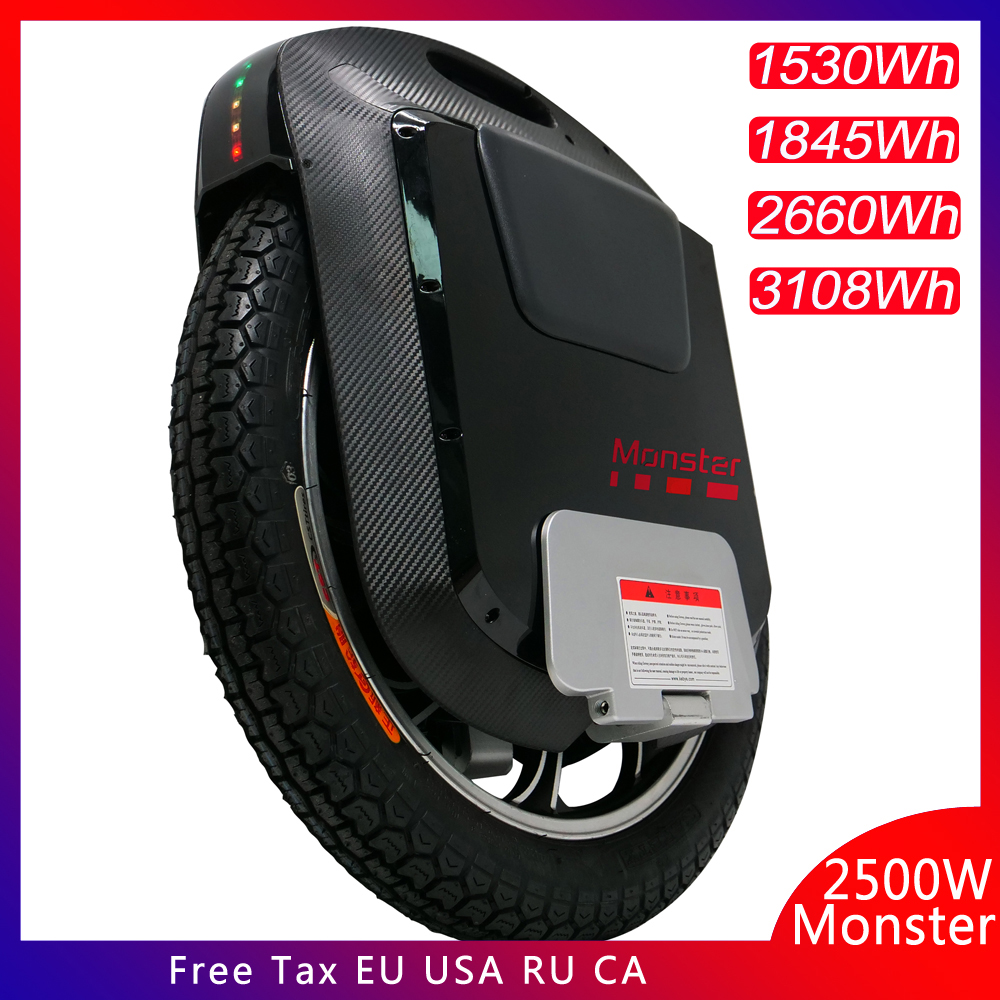 2019 Gotway Monster v3 22inch Electric unicycle 100V 1845WH/3108WH 2500W motor carbon black Bluetooth Speaker 21700 battery cell