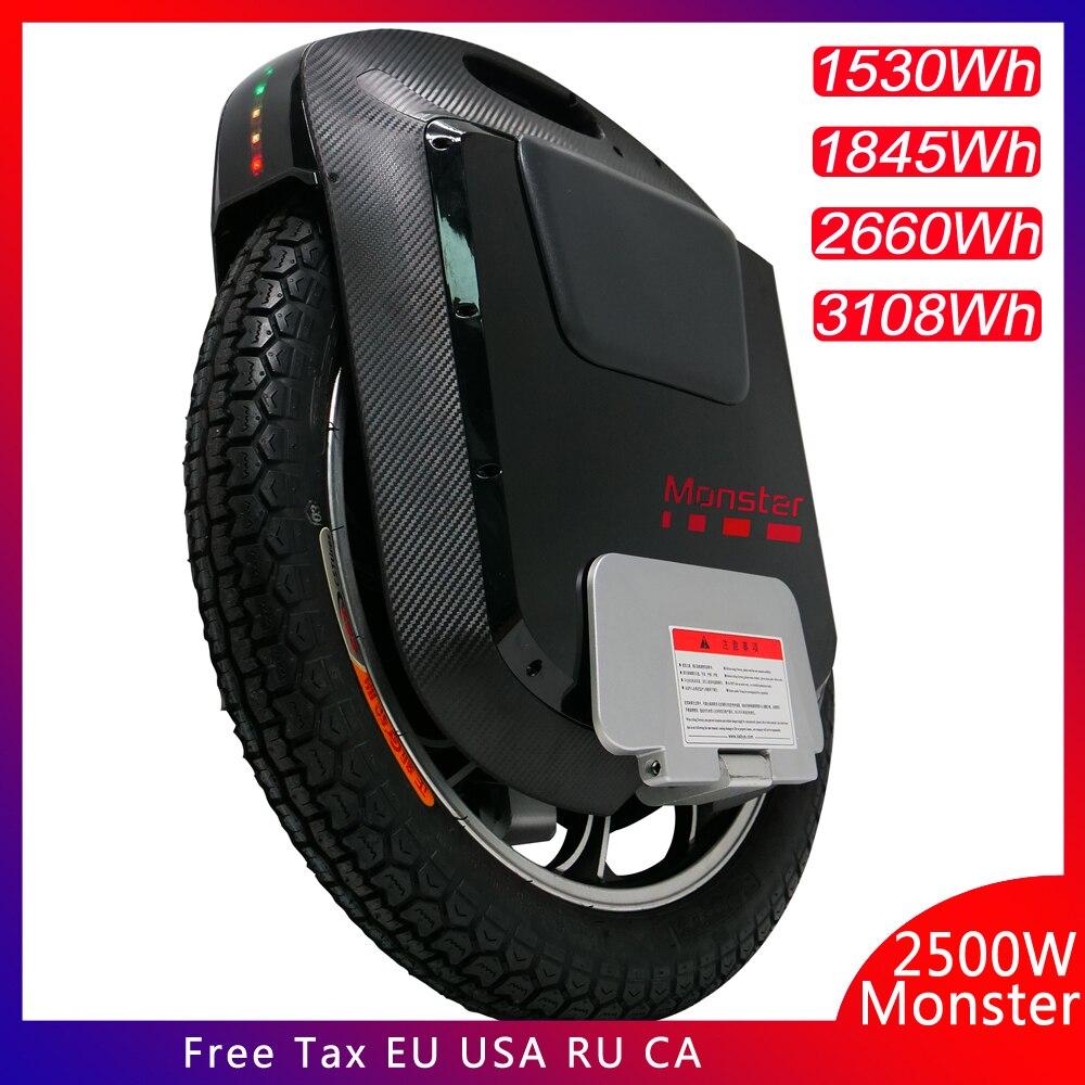2019 Gotway Monster v3 22 pouces monocycle électrique 100V 1845WH/3108WH 2500W moteur carbone noir Bluetooth haut-parleur 21700 batterie cellule