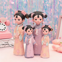 Resurrecting ancient palace wind auspicious girl ornaments decoration wine cabinet living room bedroom handicraft gifts