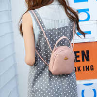 Arsmundi Fashion Mini Backpack Women PU Leather Simple Shoulder Bag Multi-Function Small Bagpack Ladies School Backpack Mochila