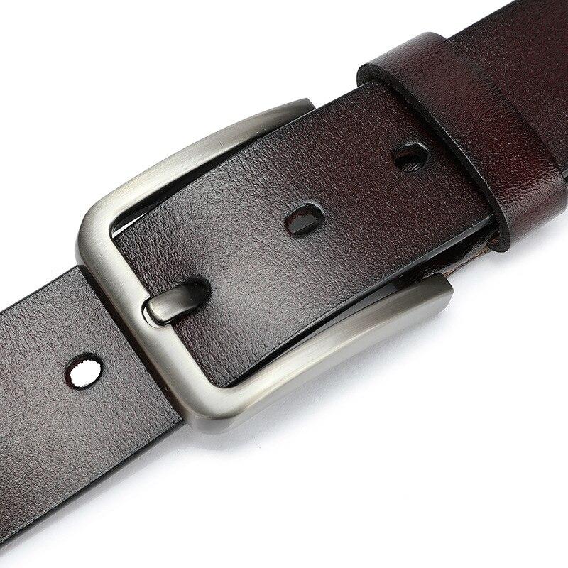 Мужской ремень из натуральной кожи наивысшего качества, мужской ремень ceinture homme cinturon hombre, модный винтажный ремень с пряжкой для джинсов|Мужские ремни| | АлиЭкспресс
