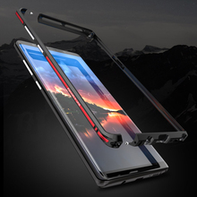 Luphie Aluminum Metal Bumper For Samsung Note 8 Case Slim Shockproof Phone Frame Shell Armor Galaxy 8.0