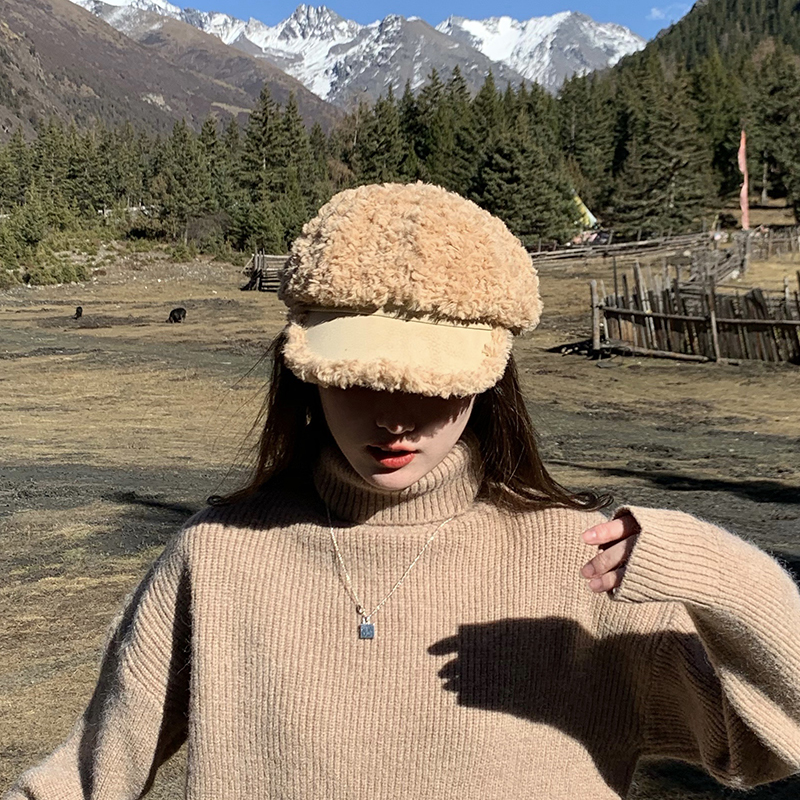 New Auutmn Winter Hats Women Solid Plain Octagonal Newsboy Cap Ladies Casual Wool Hat Warm Beret Womens Painter Caps Fisherman 5