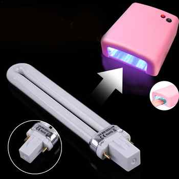 9W UV Lamp Bulbs For Drying Nail Polish Nail Dryer Electronic Machine Lamp Tube Replacement Manicure Nail Art Tool