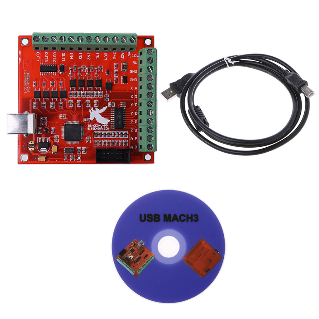<font><b>CNC</b></font> <font><b>USB</b></font> <font><b>MACH3</b></font> <font><b>100Khz</b></font> Breakout Board 4 Axis Interface Driver Motion Controller image