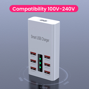 Image 3 - 6A 6 Ports Phone USB Charger For iPhone iPad Samsung Xiaomi Multiple Wall Charging EU/US Plug Adapter Mobile Phone Universal