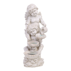 Европейское ангельское моделирование с лампой статуя смолы ремесла фигуры искусства скульптура открытый сад лужайка во дворе украшения ...