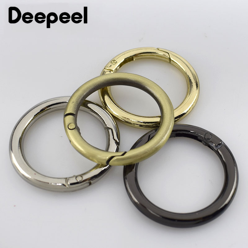 5/10pcs  25mm Spring Alloy Metal D O Ring Bags Belt Strap Dog Chain Buckles DIY  Snap Clasps Clip Bag Accessories H7-3
