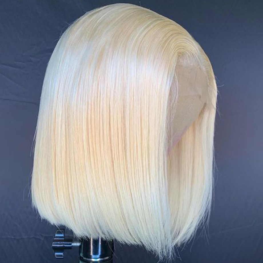 ショートストレートオンブルブロンド 613 ボブロングブラジルレースフロント人間のレミーの髪事前摘み取ら天然アフロウィッグ黒人女性