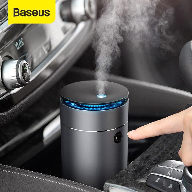 Baseus araba difüzör nemlendirici otomatik hava temizleyici Aromo hava spreyi LED ışık araba için uçucu yağ aromaterapi difüzör