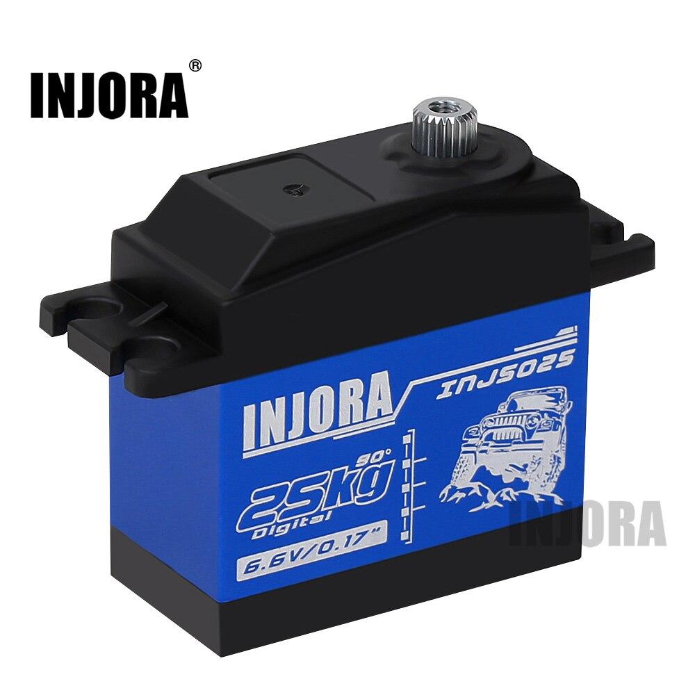 INJORA INJS025 RC Car 25KG Metal Gear Large Torque Digital Servo for RC Car Crawler SCX10 TRX4 D90 RC Car Parts(China)