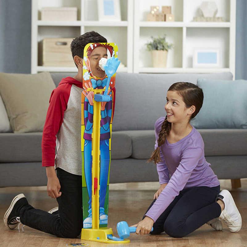 Kids Showdown Cake Pie in the Face Prank Jokes Fun Anti Stress Shocker Toys