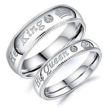 Парные кольца из нержавеющей стали carofeez модные свадебные