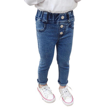 Jeans Baby-Girl High-Waist Autumn Spring Casual