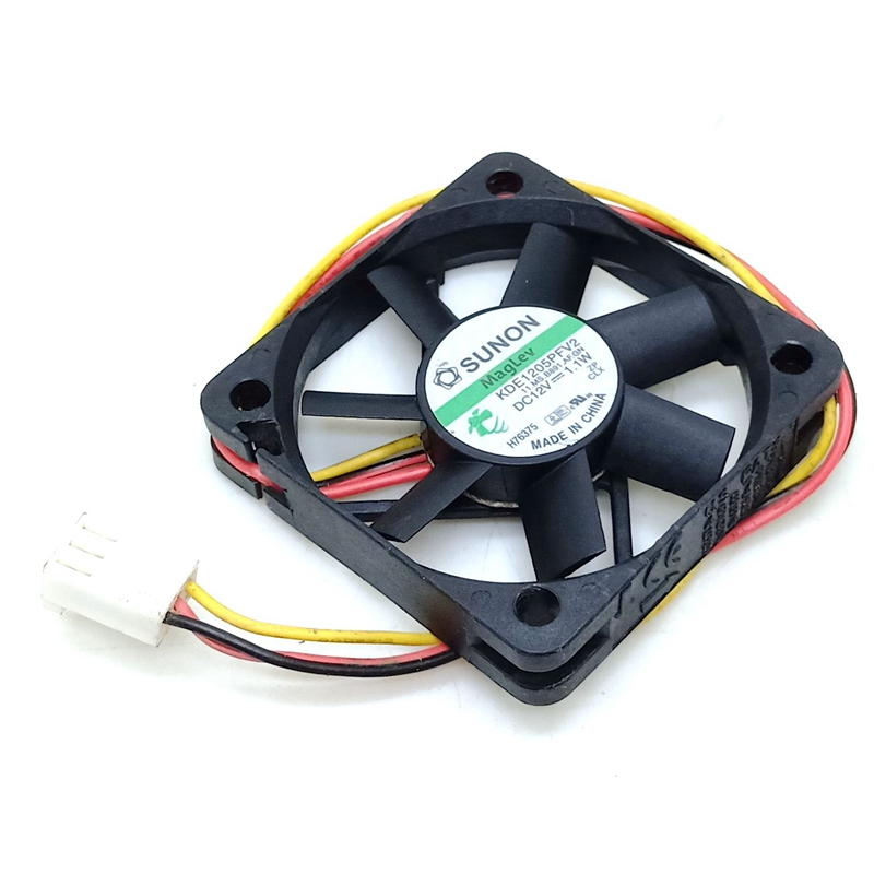 5010 Ultra Quiet Cooling Fan Sunon Kde1205pfv2 12V 1.1W Magnetic Suspension Switch Cooling Fan 50mm