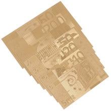 7 Uds. Para colección de dinero falso, 5/10/20/50/100/200/500 euros, decoración de souvenirs