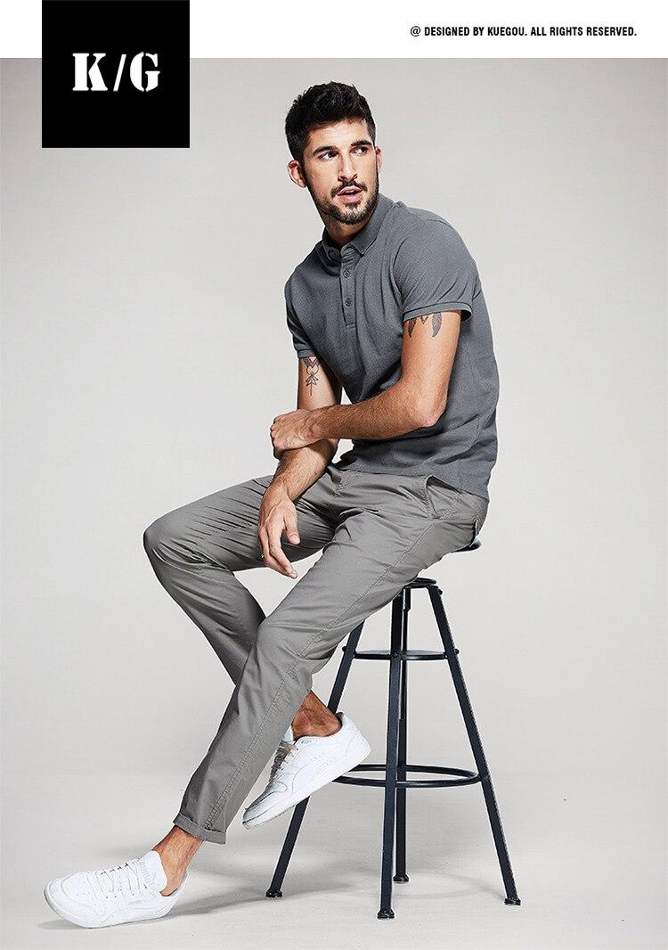 calça casual Primavera magro tipo calças retas