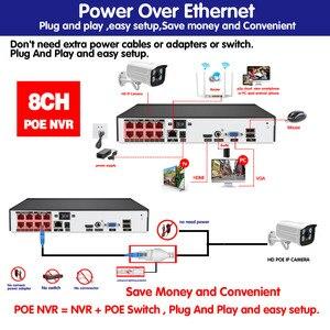 Image 5 - Nhận Dạng Khuôn Mặt H.265 + 8CH 5MP HD POE NVR Kit Camera Quan Sát Hệ Thống An Ninh 5MP AI Camera IP Ngoài Trời P2P Video giám Sát Bộ HDD 2TB