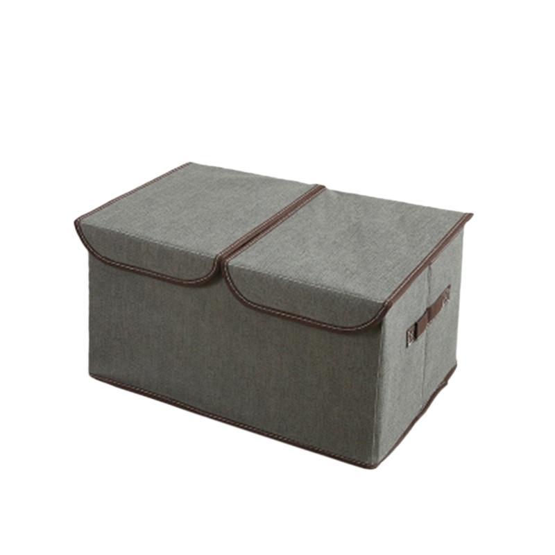 Paquet de 2 plus grands Cubes de rangement en tissu pliable Cube de rangement pliable panier organisateur avec poignées de couvercle diviseur amovible pour