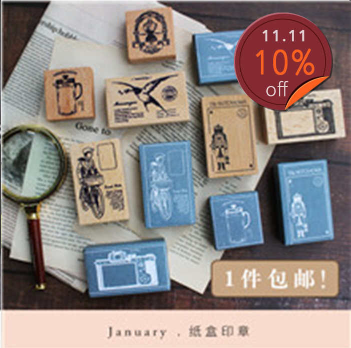 Moodtape Vintage Wood Clear Stamp For DIY Scrapbooking/photo Album Decorative Stamp Messenger TodayTea Camera Rubber Stamp Seal