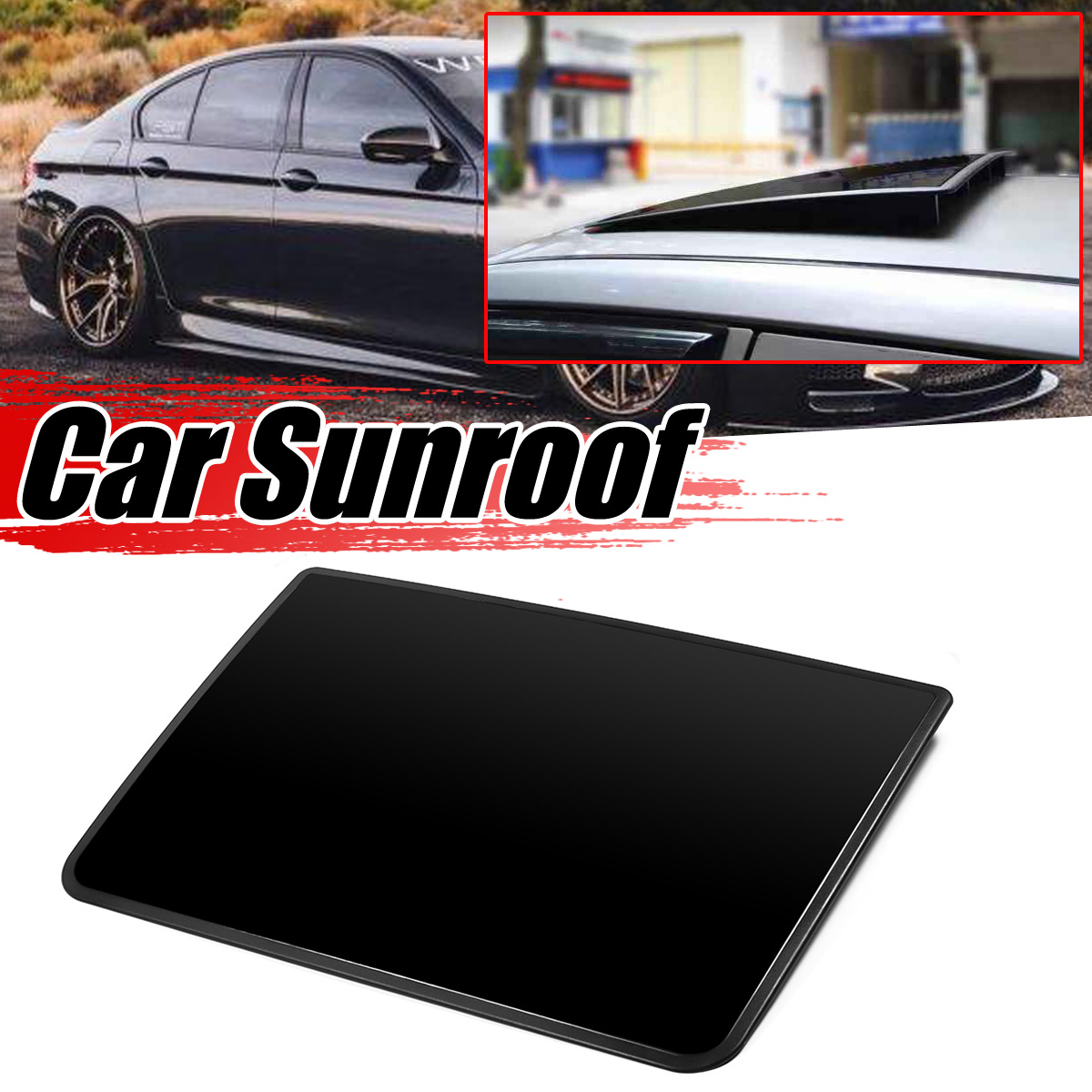 Universal Car Sunroof Cover Imitation Sunroof Roof Sunroof DIY Decoration For Benz For BMW For Audi For Honda For Mazad