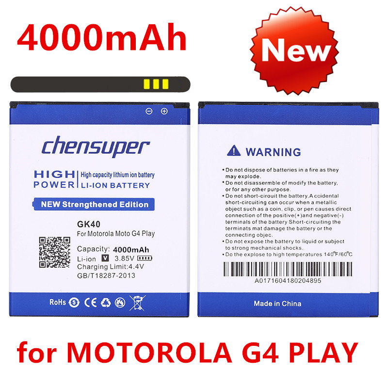 Cellular Phone Li-ion 3.8V Battery with Intelligent USB Travel Charger for Motorola Moto G4 Play XT1607 U.S 3200mAh Rechargeable A Moto G4 Play Battery