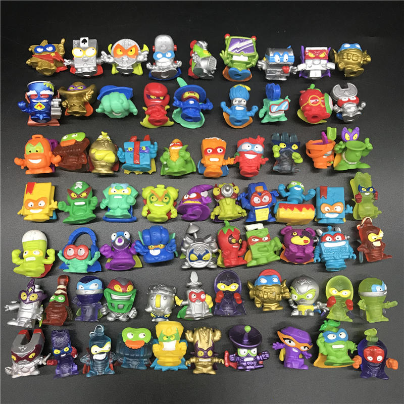 10-200pcs Superzings Zomlings Anime Dolls Playing Animal Garbage Doll 3CM Rubber Model Action Figures Toy Kids Boys Gift