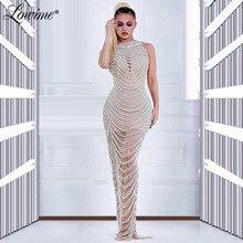 Robe Beading Evening Dress Illusion Vestidos De Fiesta De Noche 2020 Dresses Woman Party Night Sexy Prom Dress Custom Made