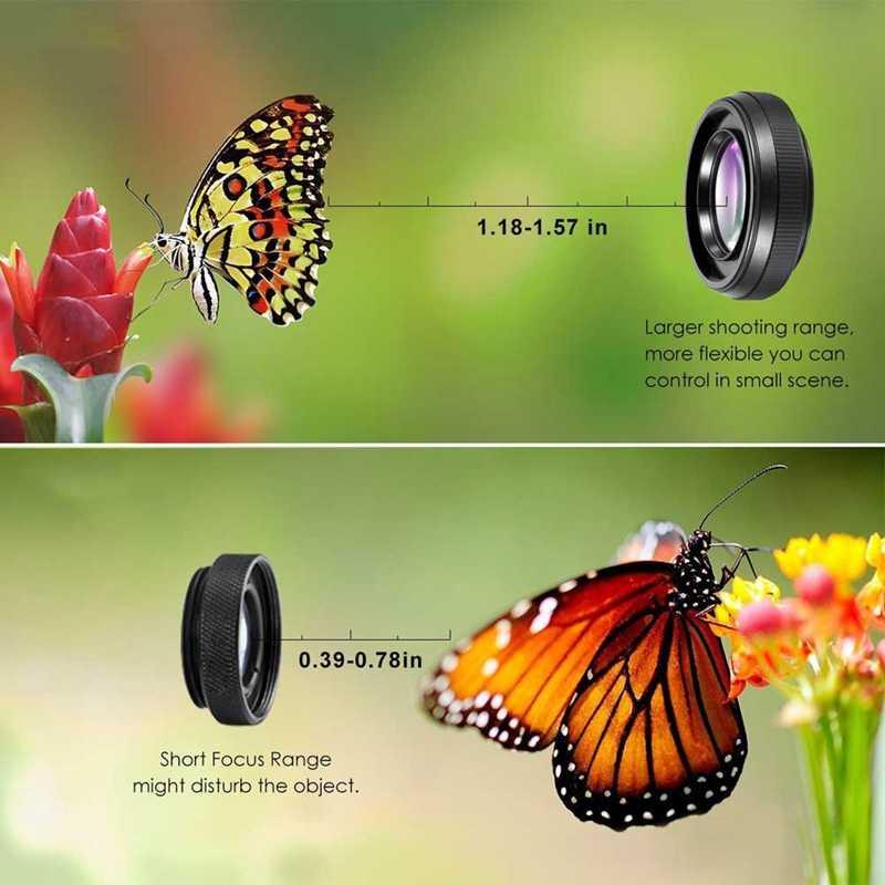 プロ 2 1 Hd カメラレンズセットで 0.6X 超広角レンズクリップ電話レンズ Iphone サムスンスマートフォン Ye-ホット