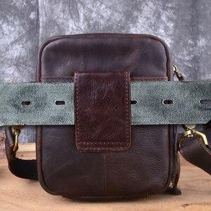Image 4 - AETOO sac à bandoulière en cuir véritable pour hommes, petit sac à bandoulière sac Casual