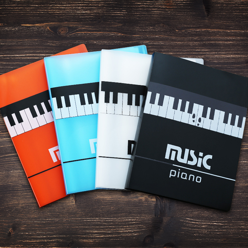 Music Score Folder Expanded Sheet Piano Stave A4 Paper Holder With Transparent Pocket