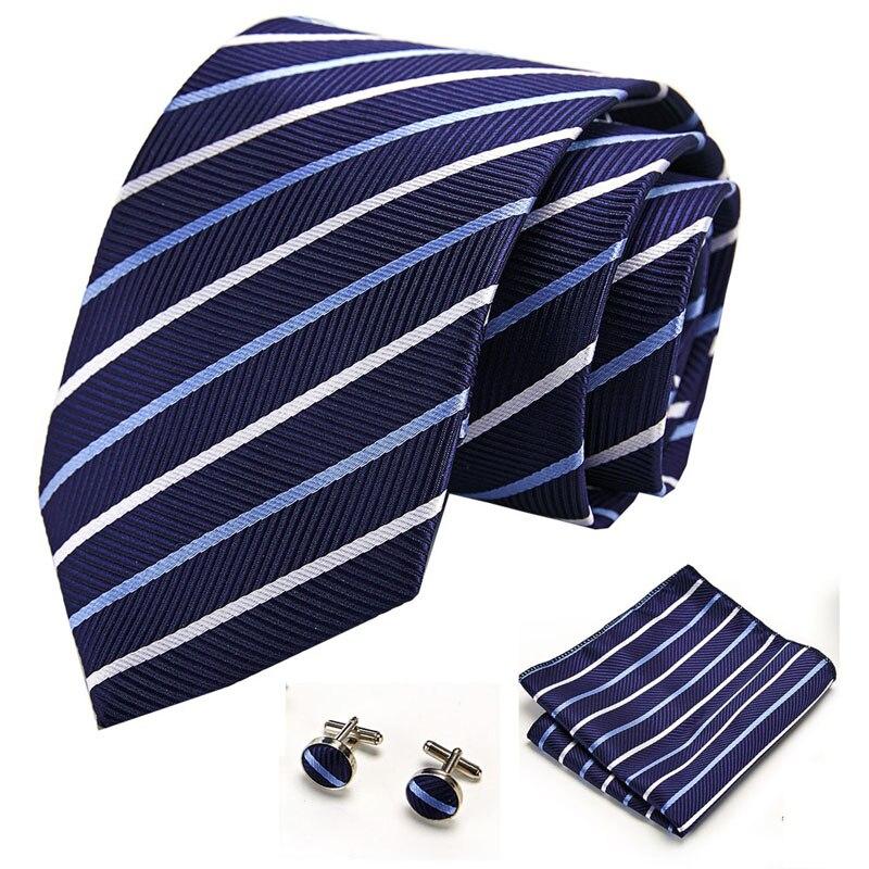 Extra Long  145cm*8cm  Paisley Ties Yellow Pink Red Blue Hanky Cufflinks Set Men's Silk Tie 8cm Tie Wedding Groom Cravata