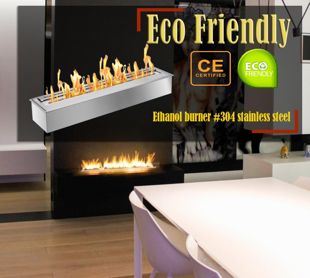 Hot Sale 62 Inch Stainless Steel Chimney Ethanol Fireplace Burner Insert