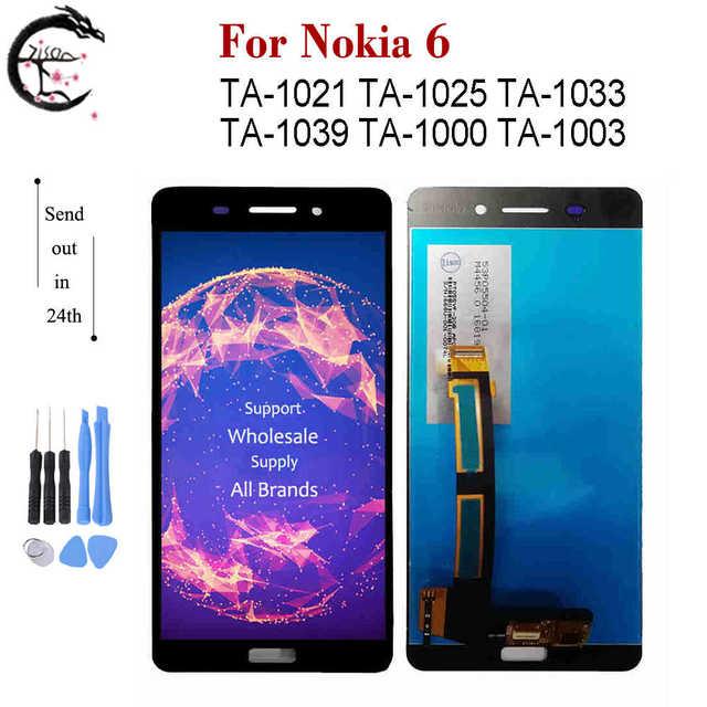 ノキア6 ta 1021 ta 1025 ta 1033 1039 1000 1003 lcdの表示画面タッチセンサーnokia6用N6ディスプレイ