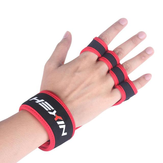 Red Weight Lifting Gloves And Support For Women 1